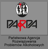 """Obrazek przedstawia szary kwadrat z napisem PARPA, a pod spodem napis """"Państwowa Agencja Rozwiązywania Problemów Alkoholowych"""". Obrazek jest linkiem do strony PARPA"""